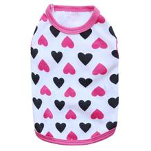 Dogs Pets Clothing Pets Love Pattern Cotton Jersey Vest Fashion Design Pet Clothing Summer Soft Costume Roupa Pet #7322(China)
