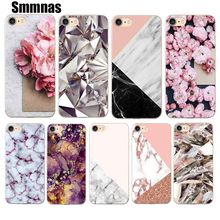 2017 New Phone Cases For iphone 5 5s SE 6plus 6s 6 7 7plus Case Scrub Marble Stone Image Painted Soft TPU Silicone Case Cover