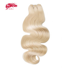 "Ali Queen Hair Products Body Wave Virgin Brazilian Hair 613 Color 14"" to 26"" 100% Human Hair Bundles With Free Shipping"