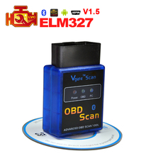 2017 Best V1.5 Version Super ELM327 Mini Bluetooth OBD2 Diagnostic Tool Works with Android Torque software Elm 327 Code Reader