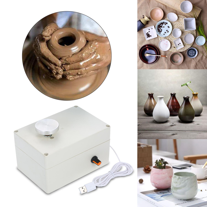Mini Electric Pottery Wheels Making Machine,Mini Electric Pottery Wheel Ceramic Machine for Clay Art DIY Craft Ceramic Tool Clay Tool US