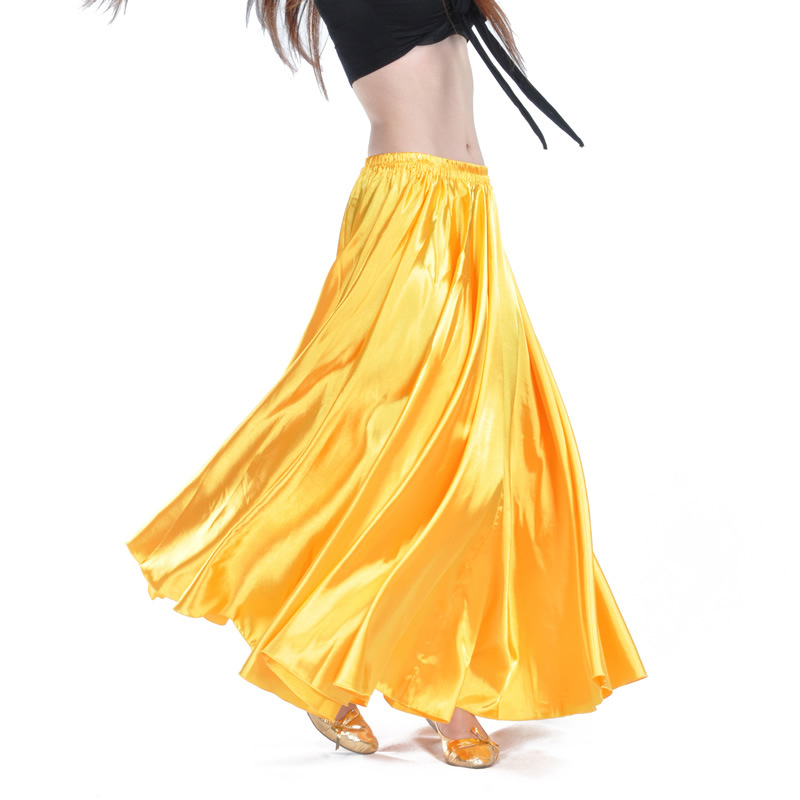 Shining Satin Long Spanish Skirt Swing dancing skirt Belly Dance skirt Sun Skirt 14 colors available VL-310