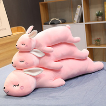 Stuffed Pillow Plush-Toy Christmas-Gift Animal Bunny Girl Gift Rabbit Soft Cartoon 65-110cm