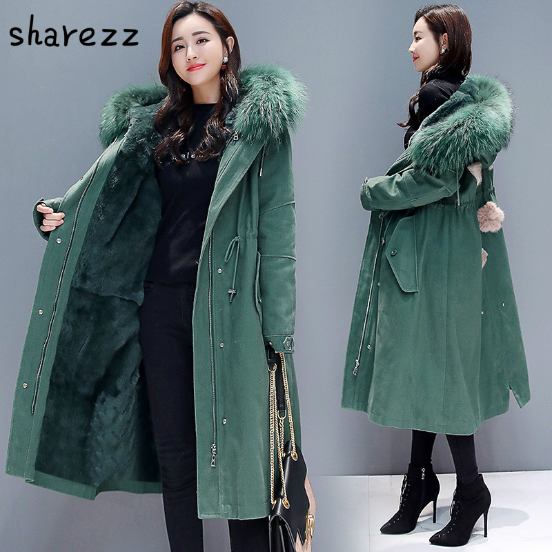 Women Winter Warm Print Coat Stand Neck Thick Warm Slim Long Jacket Overcoat