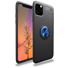 Finger Ring Case for iPhone 11 Pro Case For iPhone 11 Pro Max for iPhone 11 Car Magnetic Bracket Cover(China)