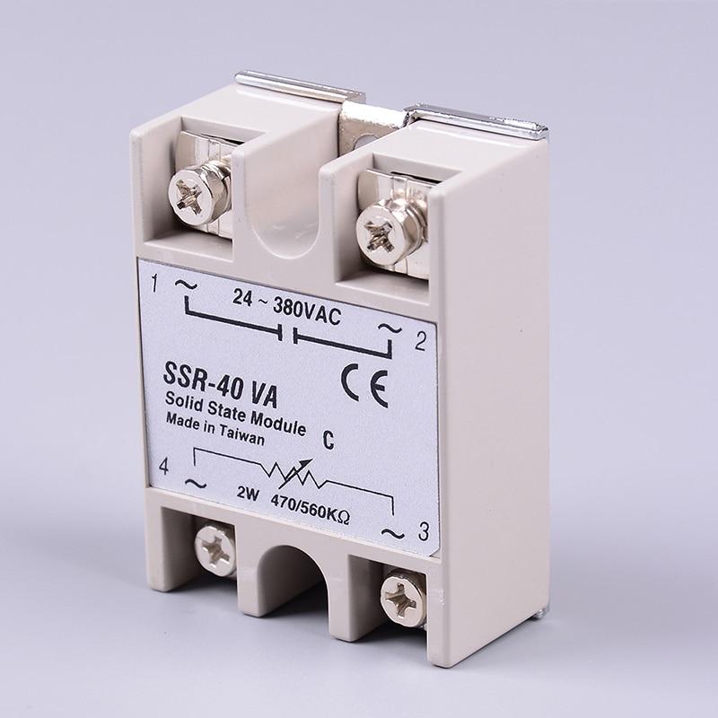 1pc SSR 40VA Solid State Relay Resistance Regulator Single Phase Relay SSR-40VA