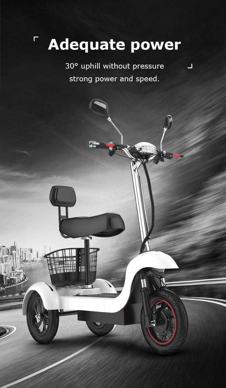 Daibot Electric Tricycle Bike 3 Wheels Electric Scooters Single Motor 500W 48V WhiteBlack Electric Scooter With Seat Adults  (14)