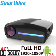 Smartldea S1080 1920*1080P светодиодный HD проектор 4D цифровой Keystone Android 9 0 WiFi опционально HDMI Smart Proyector 3D домашний