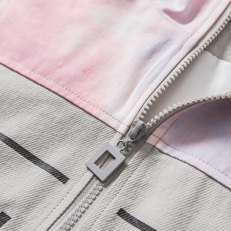 Aolamegs Jacket Men Patchwork Color Harajuku Casual Coats Letter Printing Baseball Hoodie High Street Fashion Spring Streetwear