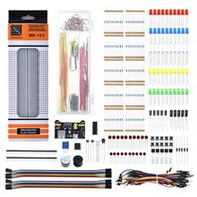Starter-Kit Electronics-Component Resistor Potentiometer-Box Breadboard-Cable Tie-Points