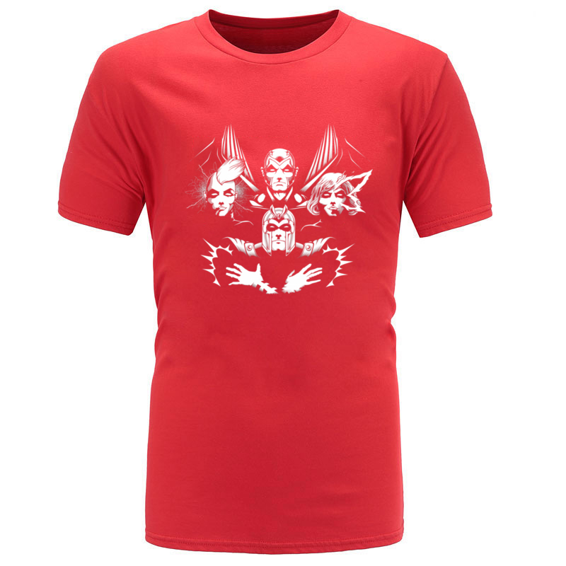 THE_FOUR_HORSEMEN_9022 100% Cotton Tops Tees for Men Hip hop T Shirts Casual New Coming Crew Neck T Shirts Short Sleeve THE_FOUR_HORSEMEN_9022 red