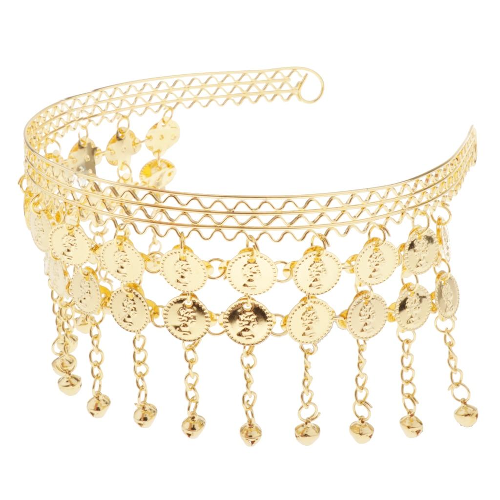 New Iron Coin Elegant Head Band Head Chain Belly Dance Headwear Accessories