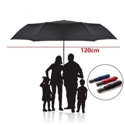 Новый 120 см большой автоматический качественный Зонт от дождя Женский 3 складной ветрозащитный большой уличный зонт для мужчин и женщин ...
