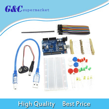 Wire-Button Jumper Arduino-Starter-Kit Uno R3 Mini Breadboard Compatile Diy Electronics
