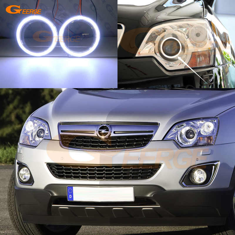 Excellent COB led angel eyes kit halo rings Ultra bright For Opel Antara 2010 2011 2012 2013 2014 2015 Facelift Xenon Headlight