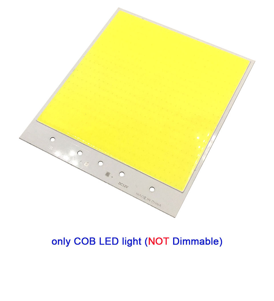 Super Bright Dimmable 12V COB LED Lights Board Panel Lamp max 300W LED Lighting with Dimmer Cold White 6500K COB Bulbs for DIY (10)
