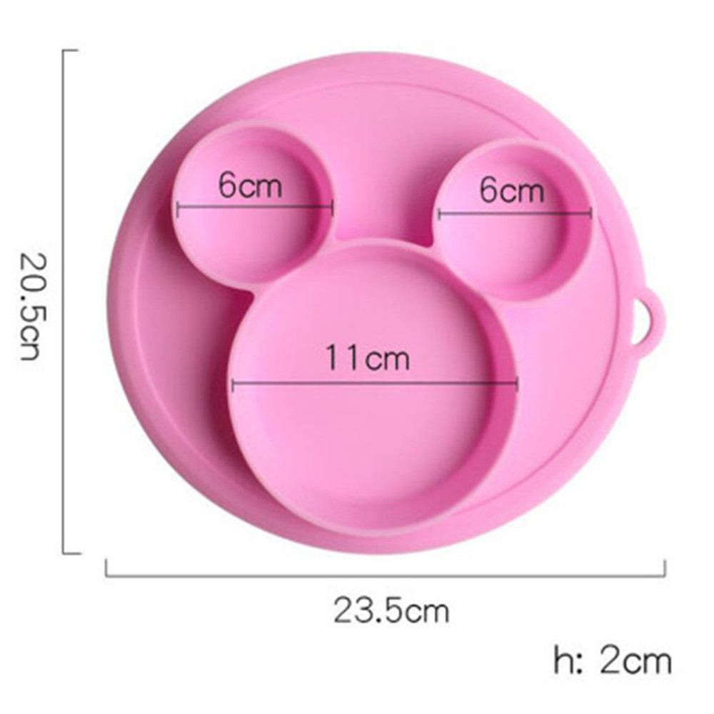 2020 Baby Feeding Plate Set Children Food Silicone Safety Plate Tableware Baby Bowl Silicone Bowl Kids Eating Dishes