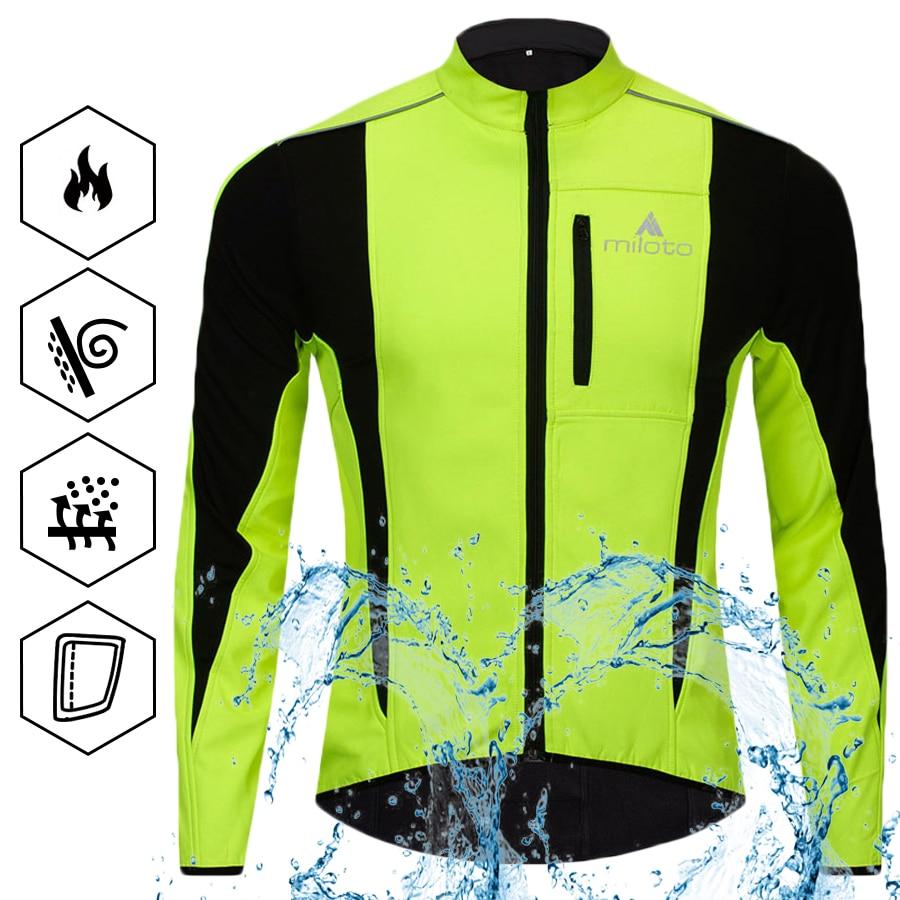 Reflective Cycling Hooded Jacket Windproof MTB Team Bike Hiking Sports Jersey