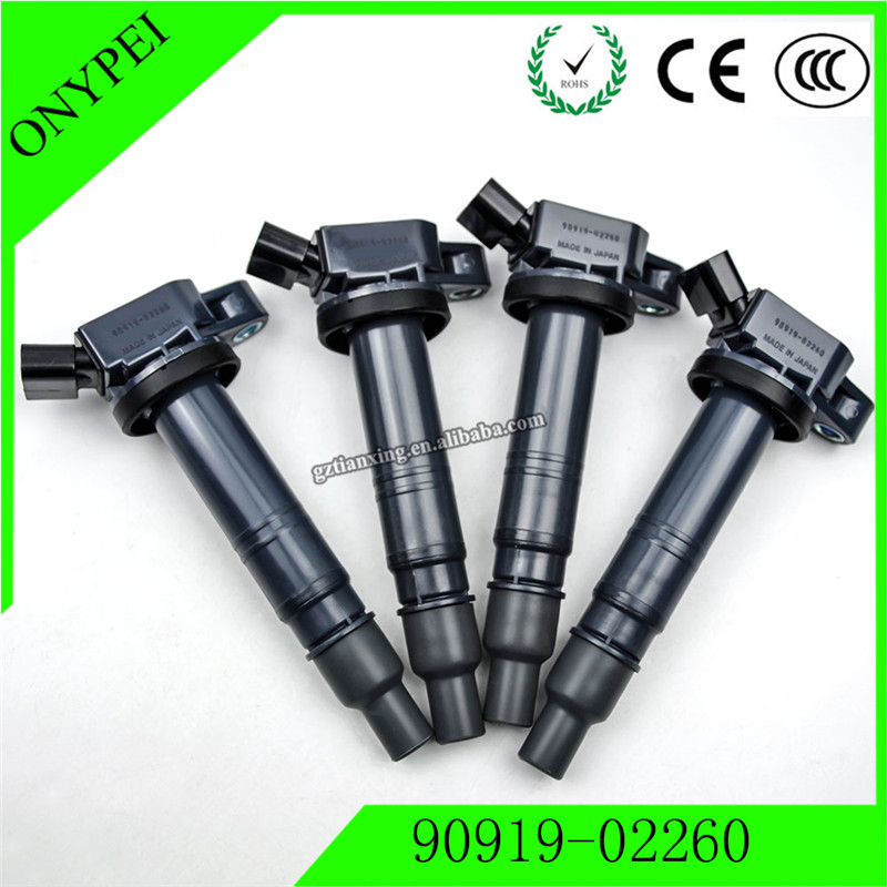4 pcs/lot 9091902260 High Quality Ignition Coil 90919-02260 For Toyota 4Runner Tacoma Scion xB Lexus ISF 2010-2014 90919 02260