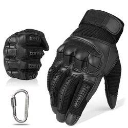 Тактические резиновые перчатки с сенсорным экраном и жесткими костяшками пальцев, военные армейские перчатки для пейнтбола, страйкбола, ве...
