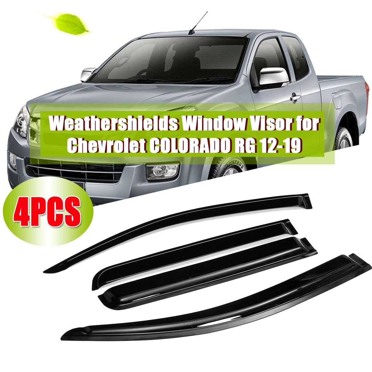 WIND VISOR RAIN WEATHER GUARD FOR 4 DOOR CHEVROLET CHEVY HOLDEN COLORADO 2012