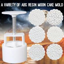 Mooncake-Mold-Set Decoration-Tool Flower Hand-Pressure Fondant-Moon Mid 6-Style 100g