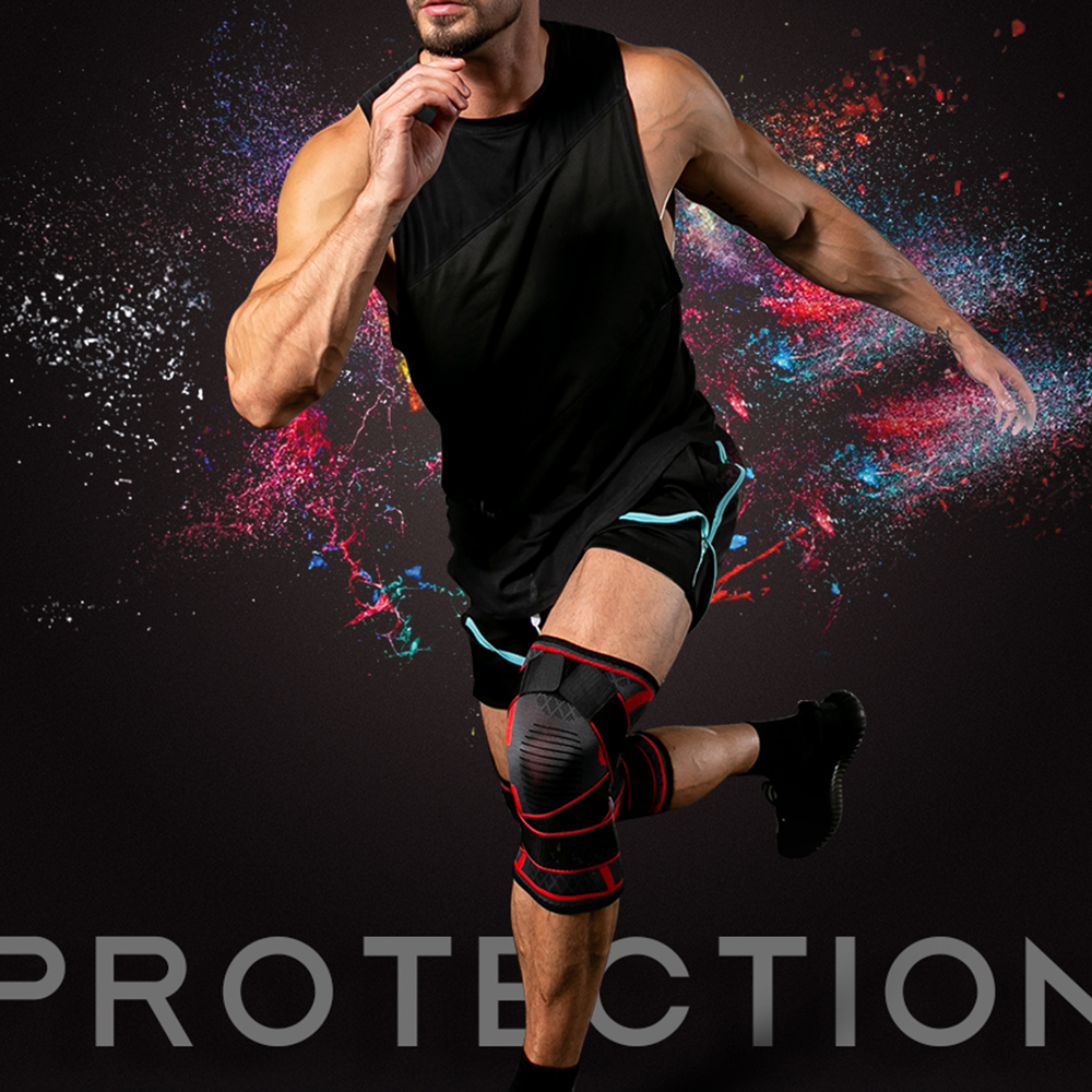 Person - Dual-use Pressurized Knee Brace-Support Fitness; Running Sports Knee Protector
