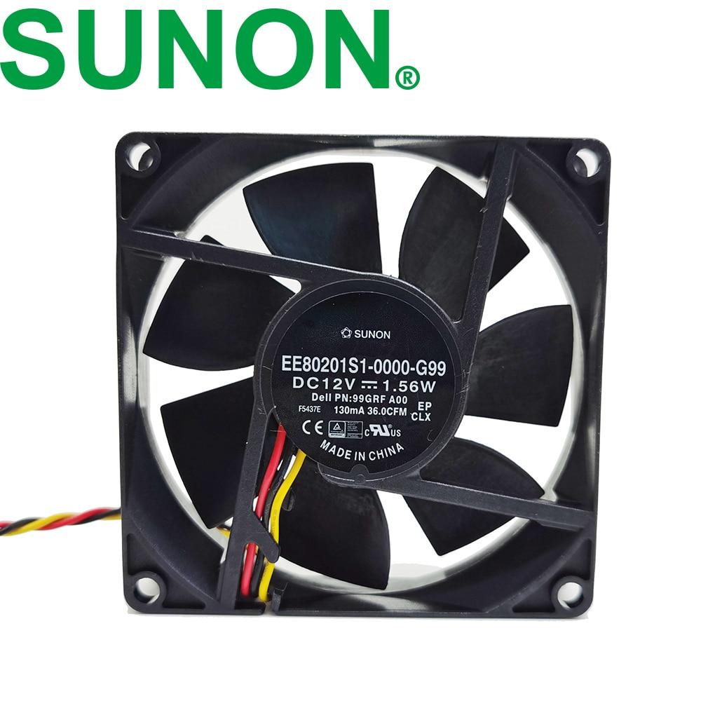 2pcs SUNON KD0502PHB2 3 Wire 25x25x15mm 25mm 2515 5V 0.6W mini DC Cooling Fan
