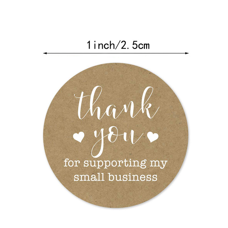 100-500pcs Thank You Stickers For Supporting My Small Business Seal Labels For Christmas Gift Decoration Business Stationery