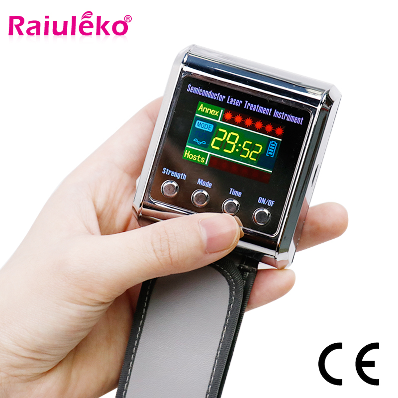 Wrist-Diode Laser 650nm Hypertension-Treatment Laser-Sinusitis-Therapy Diabetic-Watch title=