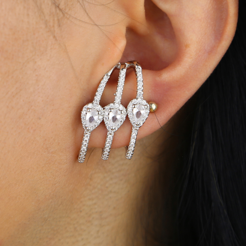 brass cz earring Y (9)