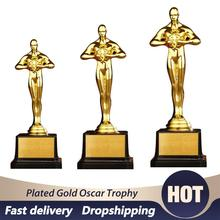 Trophy Souvenir Statue Gold Oscar Personalized Sports Team Small Gift 24cm Celebration