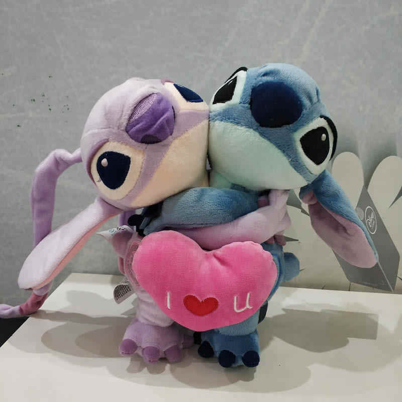 Disney Lilo and Stitch  626 Stitch girlfriend  Angel  Pink Plush Doll Toy 35cm