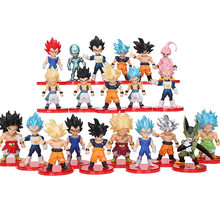 21 шт./компл. 7 см фигурка Dragon Ball Z Super Saiyan Son Goku Vegetto Vegeta Freeza Frieza Migatte Buu Cell Dragon ball(Китай)