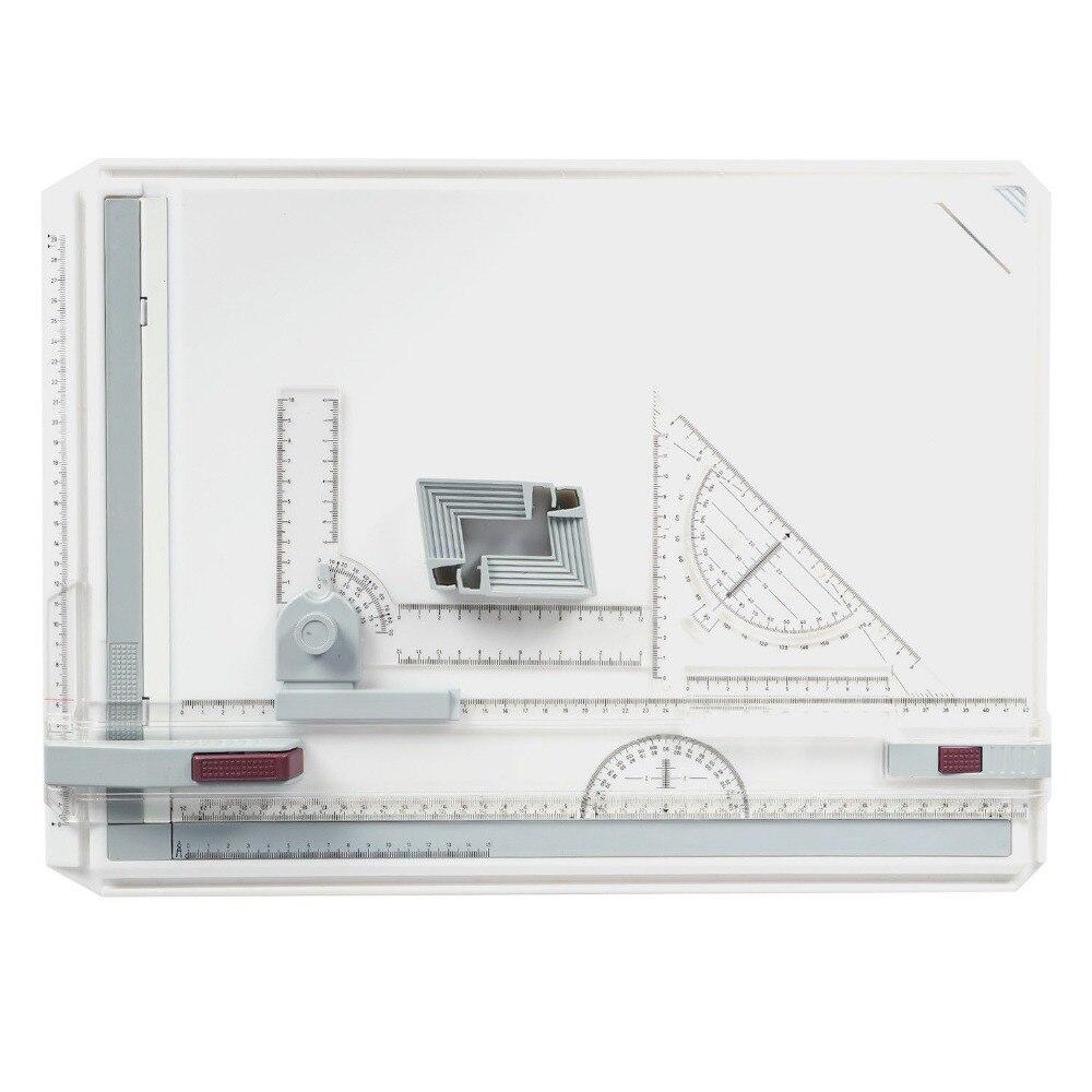 Zeichenplatte-A3-Kit-Profi-Zeichenbrett-Reißbrett-Professionell-Multifunktional