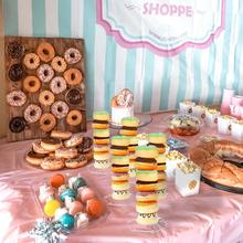 Wedding-Decor Cart Donut-Wall-Holds Baby Shower Acrylic Rustic Candy Birthday-Party Sweet