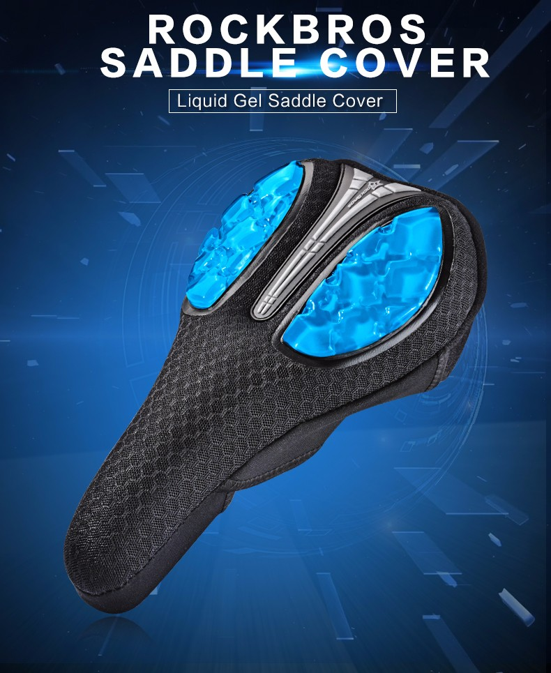 Shoreline - Bicycle Saddle Liquid Silicone Gel Bike Saddle Cover Cycling Seat Mat Comfortable Cushion Soft Seat Cover
