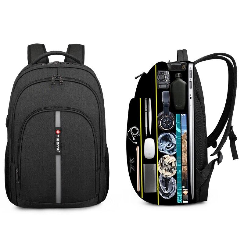 Новинка 2020, Tigernu, большой объем, 15,6 дюймов, противоугонные рюкзаки, водонепроницаемые, для ноутбука, для мужчин, высокое качество, бизнес, для путешествий, рюкзаки для мужчин