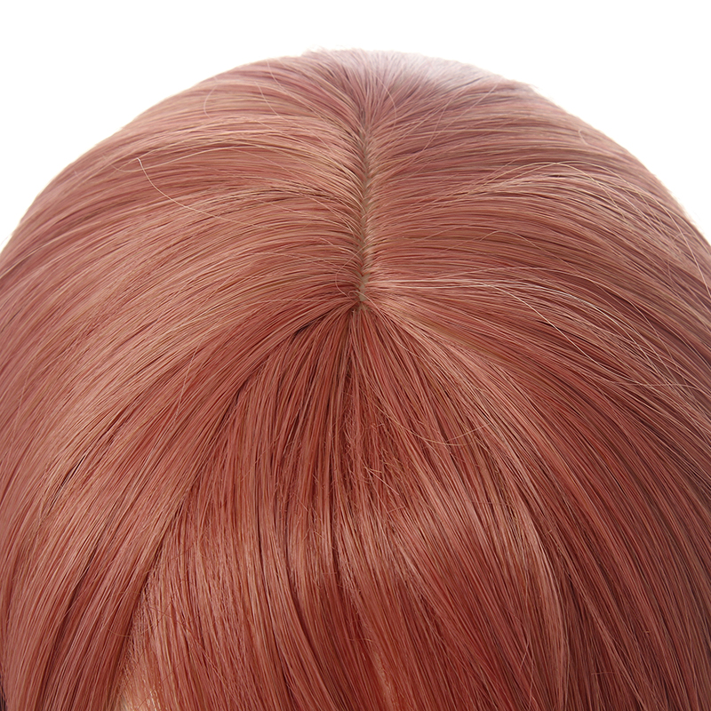 L-email wig Love Live Uehara Ayumu Cosplay Wig LoveLive PDP Cosplay Reddish Brown Wigs with Bun Heat Resistant Synthetic Hair