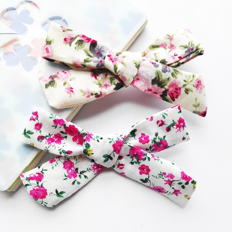 2 pcs Cotton Rose Flower Chiffon Silk for Bridal Baby Hair Comb Clip Bow Craft