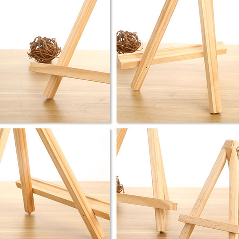 Tripod Easel Stand 9 Inch Tall Displaying Photos 8 Pack Portable Natural Pine Wood Photo Painting Easel Display for Kids Students Artist Painting Sketching