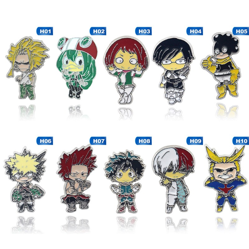 Anime Boku No Hero Academia Metal Enamel Pins and Brooches for Women Men Lapel pin backpack badge kids gifts