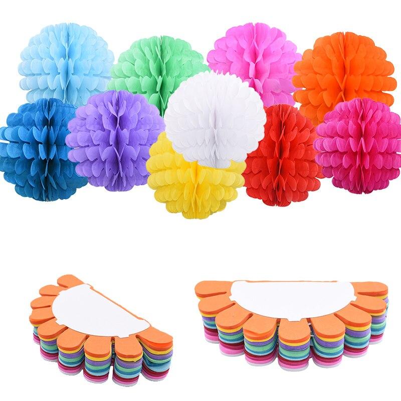 1/2/5pcs 20/25cm Decorative Tissue Paper Flower Balls DIY Pom Poms Paper Ball for Baby Shower Wedding Marriage Room Decoration 8