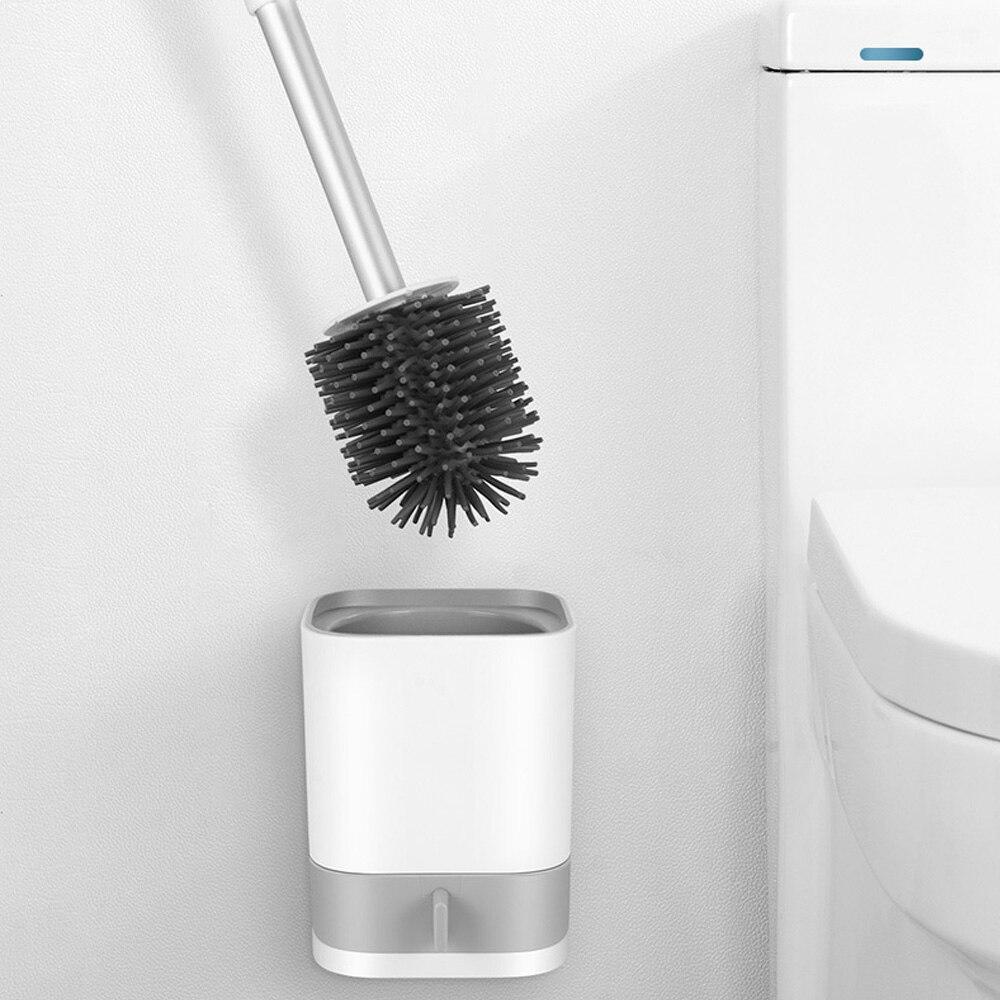 Guanghuansishe Spazzola Bagno per WC Scopino per WC in Silicone Morbido con Porta Spazzolone Scopino Asciugatura Rapida Spazzola da Toilette per Toilette Spazzola WC Bagno Scopini