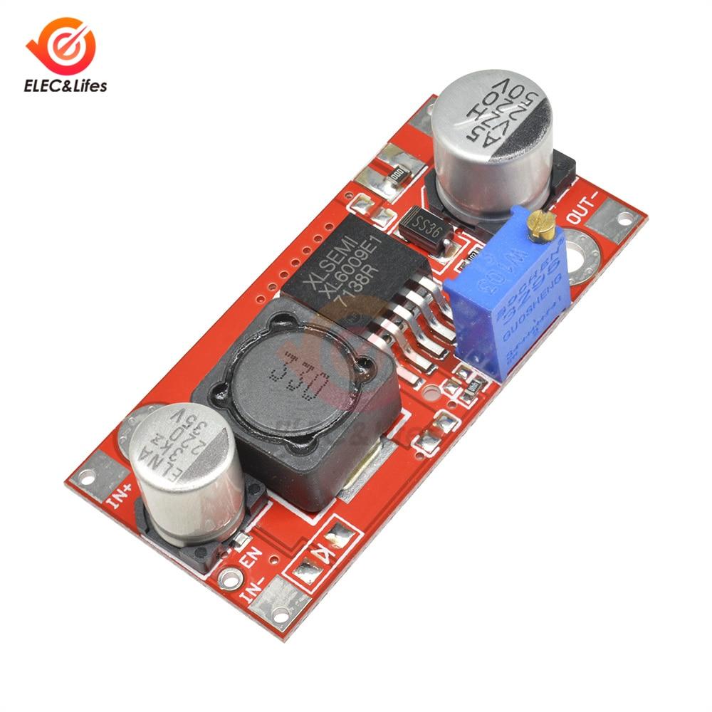 5PCS XL6009 DC-DC Adjustable Step-up Boost Power Converter Module Replace LM2577