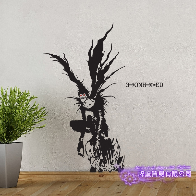 DCTAL Death Note Car Decal Ryuuku  Wall Sticker Cartoon Fans Vinyl Wall Stickers Car Decal Decor Home Decorative