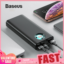 Baseus Power-Bank External-Battery Type-C Huawei Quick-Charge Fast-Charging iPhone Samsung