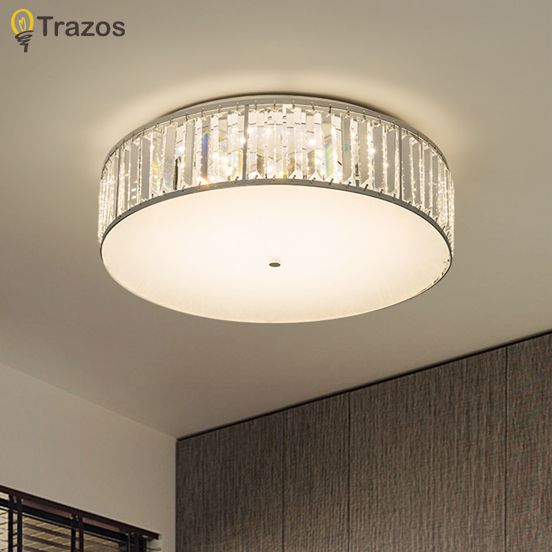 Crystal Ceiling lights For Kitchen Bedroom Loft Modern Living room Lamp Gold Indoor Lighting LED Ceiling Lamp Lustres De Cristal