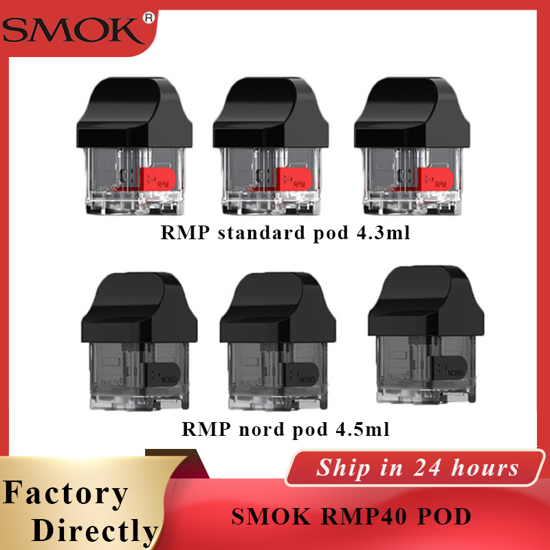 Vape pod SMOK RPM40 Cartridge RMP standard Pod 4.3ml /RMP Nord Pod Tank 4.5ML Atomizer for RPM40 Pod Vape Kit vape accessories