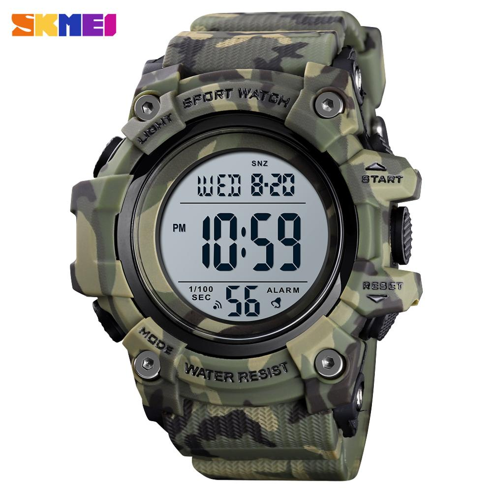 Fashion Men Sport Watch Luxury SKMEI Watches Stopwatch Countdown Digital Watch 50Bar Waterproof Military Watch Clock For Mens